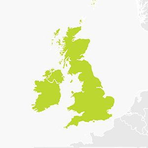 Sat Nav for UK and Ireland
