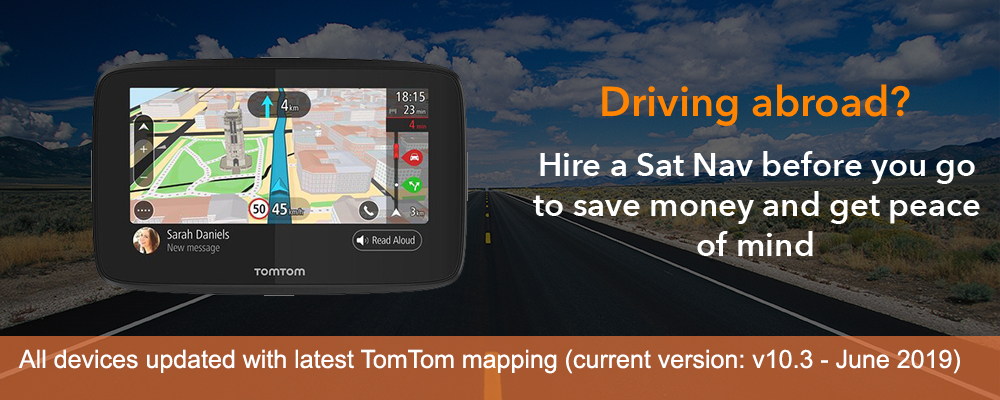 Sat Nav Hire : Hire a sat nav for UK, Europe, USA, South ... Sat Nav With Uk And Usa Maps on